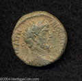 Ancients:Roman, Ancients: Syria, Decapolis. Hippos-Susita. Lucius Verus. 161-169C.E. AE 22 mm (6.68 g). Laureate and draped bust right / Tychestandi...