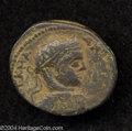 Ancients:Roman, Ancients: Syria, Decapolis. Hippos-Susita. Elagabalus. 218-222 C.E.AE 27 mm (10.52 g). Radiate, draped and cuirassed bust right /Peg...
