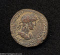 Ancients:Roman, Ancients: Syria, Decapolis. Petra. Hadrian. 117-138 C.E. AE 27 mm(15.98 g). Laureate, draped and cuirassed bust right / Tyche seated...