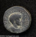 Ancients:Roman, Ancients: Syria, Decapolis. Philadelphia. Elagabalus. 218-222 C.E.AE 23 mm (8.74 g). Laureate and cuirassed bust right / Chariotwith...