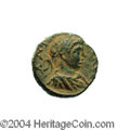 Ancients:Roman, Ancients: Samaria, Antipatris. Elagabalus. 218-222 C.E. AE 18 mm(7.51 g). Laureate, draped and cuirassed bust right / Tychestanding ...