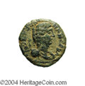 Ancients:Roman, Ancients: Samaria, Diospolis (Lod). Julia Domna, wife of SeptimiusSeverus. AE 22 mm (10.38 g). Year 10 (209/10 C.E.). Draped bustrig...