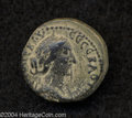 Ancients:Roman, Ancients: Samaria, Neapolis. Faustina II, wife of Marcus Aurelius.AE 20 mm (6.23 g). Year 89 (160/1 C.E.). Draped bust right, hairco...