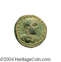 Ancients:Roman, Ancients: Samaria, Neapolis. Volusian. 251-253 C.E. AE 20 mm (8.44g). Radiate and cuirassed bust right, slight drapery on leftshould...