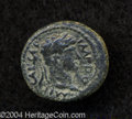 Ancients:Roman, Ancients: Samaria, Sebaste. Domitian. 81-96 C.E. AE 16 mm (2.62 g).Year 109 (84/5 C.E.). Laureate head right / Crested helmet withch...