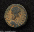 Ancients:Roman, Ancients: Samaria, Sebaste. Julia Soemias, mother of Elagabalus. AE22 mm (12.97 g). Laureate head right / The Rape of Persephonedepi...