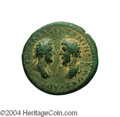 Ancients:Roman, Ancients: Judaea, Aelia Capitolina (Jerusalem). Marcus Aurelius andLucius Verus. 161-180 C.E. AE 30 mm (18.46 g). Laureate anddraped...