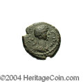 Ancients:Roman, Ancients: Judaea, Raphia. Commodus. 177-192 C.E. AE 15 mm (3.60 g).Year 145 (82/3 C.E.). Laureate, draped and cuirassed bust right /...