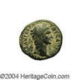 Ancients:Roman, Ancients: Galilaea, Sepphoris. Trajan. 98-117 C.E. AE 20 mm (5.29g). Laureate head right / Caduceus tied with fillet. RosenbergerIII...