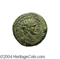 Ancients:Roman, Ancients: Galilaea, Tiberias. Hadrian. 117-138 C.E. AE 24 mm (12.64g). Year 101 (119/20 C.E.). Laureate and cuirassed bust right /Ze...