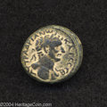 Ancients:Roman, Ancients: Galilaea, Tiberias. Hadrian. 117-138 C.E. AE 18 mm (6.24g). Year 101 (119/20 C.E.). Laureate bust right, slight drapery on...