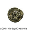 Ancients:Roman, Ancients: Sextus Pompey, son of Pompey the Great. 42-40 B.C. ARdenarius (19 mm, 3.85 g). Uncertain Sicilian mint, possibly Catana.Ba...