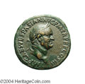 Ancients:Roman, Ancients: Vespasian. A.D. 69-79. AE sestertius (34 mm, 27.44 g).'Judaea Capta' issue. Rome, A.D. 71. Laureate head right / IVDAEACAP...
