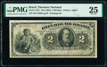 World Currency, Brazil Thesouro Nacional 2 Mil Reis ND (1882) Pick A251 PMG Very Fine 25.. ...