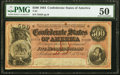 Confederate Notes:1864 Issues, T64 $500 1864 PF-3 Cr. 489B PMG About Uncirculated 50.. ...