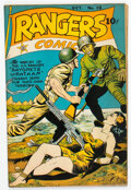 Golden Age (1938-1955):War, Rangers Comics #19 (Fiction House, 1944) Condition: FN+....