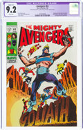 Silver Age (1956-1969):Superhero, The Avengers #63 (Marvel, 1969) CGC Apparent NM- 9.2 White pages....