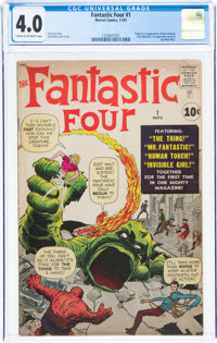 Fantastic Four #1 (Marvel, 1961) CGC VG 4.0 Cream to off-white pages
