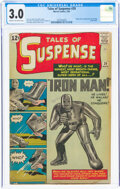 Silver Age (1956-1969):Superhero, Tales of Suspense #39 (Marvel, 1963) CGC GD/VG 3.0 Cream to off-white pages....