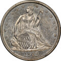 Seated Half Dollars: , 1843 50C MS61 NGC. NGC Census: (11/49). PCGS Population: (9/47). CDN: $800 Whsle. Bid for NGC/PCGS MS61. Mintage 3,844,000....