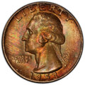 Washington Quarters, 1953-S 25C MS66 PCGS. CAC. This lot will also include a: 1957-D 25C MS66 PCGS.... (Total: 2 coins)