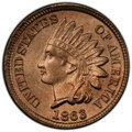 Indian Cents: , 1863 1C MS64 PCGS. CAC. PCGS Population: (1017/390 and 41/61+). NGC Census: (677/252 and 15/9+). CDN: $325 Whsle. Bid for N...