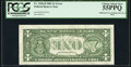Skewed Face to Back Offset Error Fr. 1926-H $1 2001 Federal Reserve Note. PCGS Choice About New 55PPQ