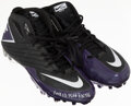 Football Collectibles:Uniforms, 2013 Adrian Peterson Signed Game Worn Cleats. ...