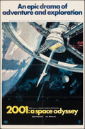 """Movie Posters:Science Fiction, 2001: A Space Odyssey (MGM, 1968). Folded, Fine+. One Sheet (27"""" X 41"""") Style A, Robert McCall Artwork. Science Fiction.. ..."""