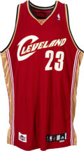 Basketball Collectibles:Uniforms, 2007-08 LeBron James Game Worn & Signed Cleveland Cavaliers Jersey Gifted to Teammate....