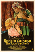 "Movie Posters:Adventure, The Son of the Sheik (United Artists, 1926). Fine+ on Linen. One Sheet (28"" X 41"").. ..."