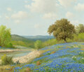 Paintings, Porfirio Salinas (American, 1910-1973). Spring by the River. Oil on canvas. 20 x 24 inches (50.8 x 61.0 cm). Signed and ...