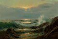 Paintings, Paul Richard Schumann (American, 1876-1946). Glowing Waves at Dawn. Oil on canvas. 20 x 30 inches (50.8 x 76.2 cm). Sign...