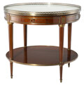Furniture, A Neoclassical-Style Marble and Gilt Bronze Mounted Mahogany Center Table, 20th century . 30-1/4 x 34-1/4 inches (76.8 x 87....