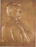 Lincoln, 1907 Abraham Lincoln Bronze Shell by Victor D. Brenner....