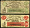 """Confederate Notes:1861 Issues, Pair of """"Female Riding Deer"""" Bogus Notes. Very Good or Better.. ... (Total: 2 notes)"""