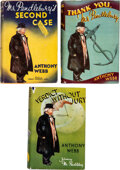 Books:Mystery & Detective Fiction, Anthony Webb. Group of Three Mr. Pendlebury Books. London: [1937-1939]. First editions.... (Total: 3 )