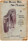 Books:Mystery & Detective Fiction, Maarten Maartens. The Black-Box Murder. New York: [1895]. Authorized edition. With mounted signature laid in. Vinc...