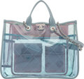 """Luxury Accessories:Bags, Chanel Blue PVC & Lambskin Leather Coco Splash Tote Bag with Silver Hardware. Condition: 3. 15.5"""" Width x 12"""" Height x..."""