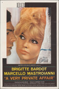 """Movie Posters:Foreign, A Very Private Affair (MGM, 1962). Folded, Fine/Very Fine. One Sheet (27"""" X 41""""). Foreign.. ..."""