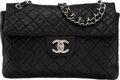 """Luxury Accessories:Bags, Chanel Black Quilted Caviar Leather Maxi Flap Bag with Silver Hardware. Condition: 3. 13.5"""" Width x 8"""" Height x 4"""" Dep..."""