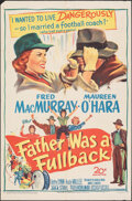 "Movie Posters:Sports, Father Was a Fullback (20th Century Fox, 1949). Folded, Fine/Very Fine. One Sheet (27"" X 41""). Sports.. ..."