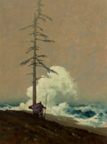 Paintings, Barber (20th Century). The Sentry. Oil on canvas. 24 x 18 inches (61.0 x 45.7 cm). Signed lower right. ...