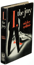 Books:Mystery & Detective Fiction, Mickey Spillane. I, the Jury. New York: 1947. First edition of the author's first novel. Inscribed by the author t...