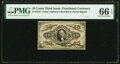 Fractional Currency:Third Issue, Fr. 1253 10¢ Third Issue PMG Gem Uncirculated 66 EPQ.. ...