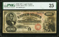 Fr. 169 $100 1875 Legal Tender PMG Very Fine 25