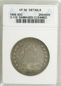 Early Half Dollars: , 1806 50C Pointed 6, Stem--Cleaned, Damaged--ANACS. VF30 Details.O-115. NGC Census: (216/753). PCGS Population (85/420). Mi...