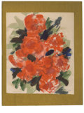 Texas:Early Texas Art - Impressionists, JOSEPHINE MAHAFFEY (American, 1903-1982). Untitled, floral.Watercolor and acrylic on paper, mounted on metallic mat board. ...