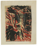 Texas:Early Texas Art - Impressionists, JOSEPHINE MAHAFFEY (American, 1903-1982). Untitled, abstraction.Watercolor on newsprint, mounted on card board. 8in. x 6-1/...