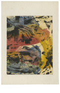 Texas:Early Texas Art - Impressionists, JOSEPHINE MAHAFFEY (American, 1903-1982). Untitled, abstraction.Watercolor on paper, mounted on mat board. 6.5in. x 4.5in....